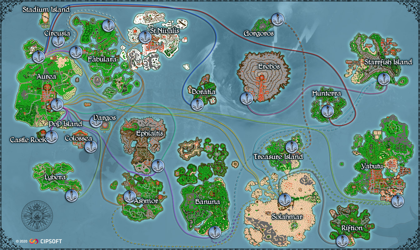 TibiaME Worldmap - Click to zoom